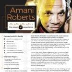 Amani Roberts' One Sheet