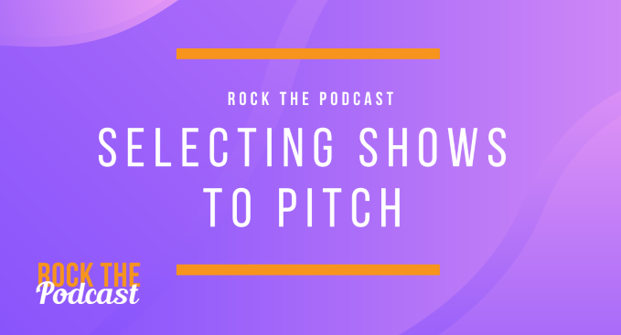 Selecting Shows to Pitch